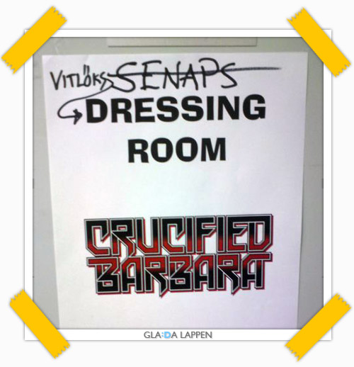 crucified barbara dressing room glad lapp